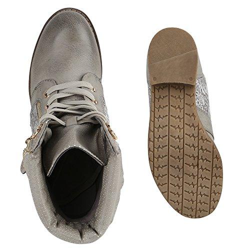 Stiefelparadies - Botas clásicas Mujer gris