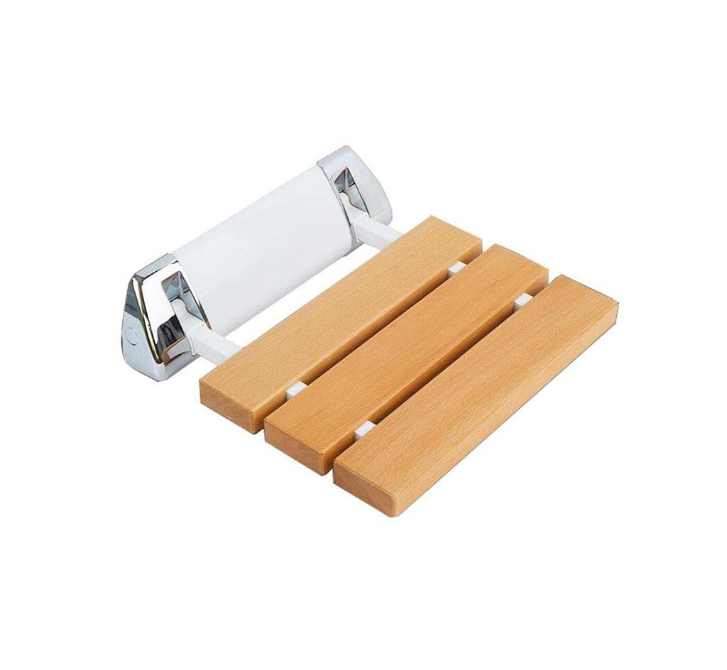木製の壁掛け式シャワーシート老人用便のためのスツールアンチスリップ安全で安定したバススツールバスルーム障害者アクセス可能なシャワースツール折りたたみ防食   B07F3VS4CD