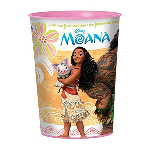 Moana 16oz Plastic Favor Cup - Maui Cup