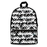 Cheap Instantarts Classic Black and White Cute Cartoon Husky Men Travel Bag Boys School Back Pack