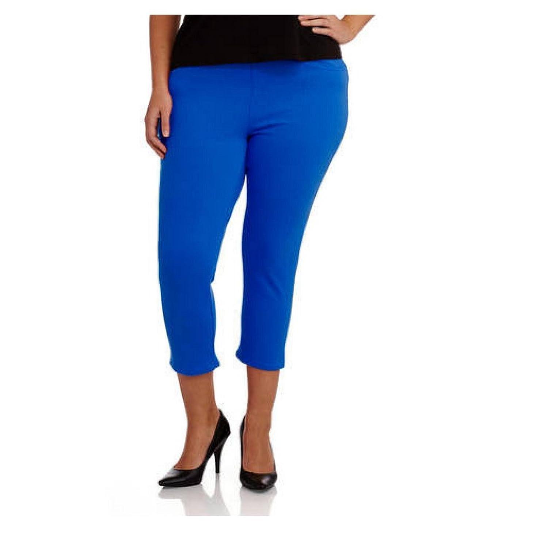 ebe8f0bcc8a9a Faded Glory Women's Plus Capri Length Stretch Knit Jegging Pants 50%OFF