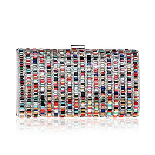 colored Diamond Multi Bag GROSSARTIG Clutch Banquet Lady Evening Lady Bag Dinner Bag Dress 7wPBxFq