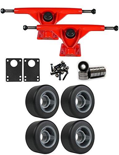 ホバー重さ三角形RKPレッドLongboard Trucksホイールパッケージ70 mm x 35 mm 83 aブラック