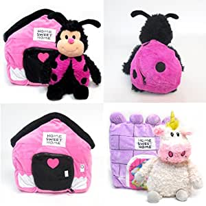 """Happy Nappers Set of 2 - Unicorn and Lady Bug 21"""" Plush Pet Pillow"""