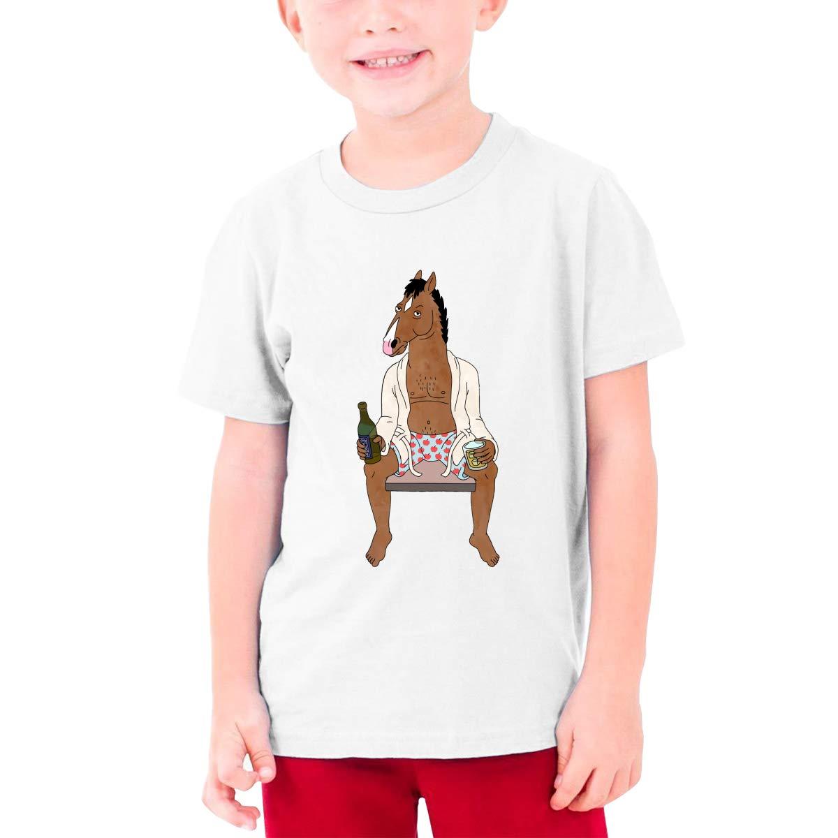 MasakoJMassie BojackHorseman Tee for Teenager Casual Cotton T Shirts Short Sleeve Boys Kids Girls