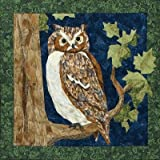 quilt freezer paper - Great Horned Owl - NEW Form of Foundation Paper Piecing (Picture Piecing) Pattern - 17 1/2