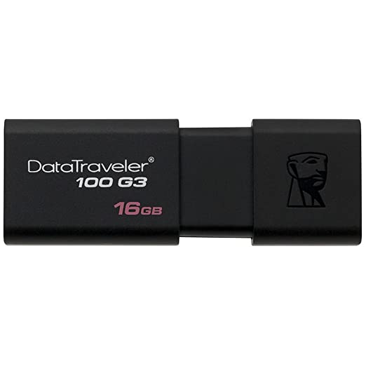 1420 opinioni per Kingston DT100G3 Chiavetta USB 16 GB, USB 3.0, Nero