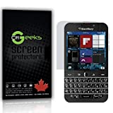 CitiGeeks® BlackBerry Classic Q20 High Definition (HD) Screen Protectors - [Ultra Clear] Maximum Clarity Invisible Screen Protector with Accurate Touch Screen Sensitivity [3-Pack] Lifetime Warranty