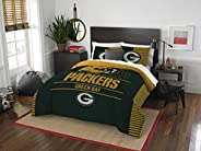 Officially Licensed NFL Green Bay Packers Draft Full/Queen Comforter and 2 Sham Set