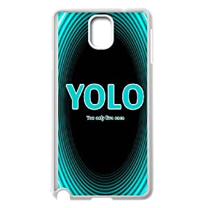 YOLO Samsung Galaxy Note 3 Cell Phone Case White Z0016475