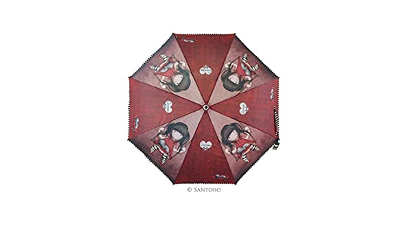 Gorjuss - Paraguas Plegable Manual Ruby (Santoro 76-0001-10): Amazon.es: Equipaje