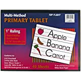 Top Flight Multi-Method 1st Grade Primary Tablet, 1 Inch Ruling, Bond Paper, 11 x 8.5 Inches, 40 Sheets (56415)