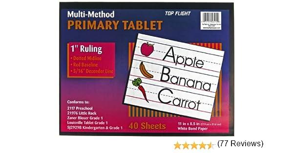 Amazon.com : Top Flight Multi-Method 1st Grade Primary Tablet, 1 ...