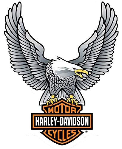 Harley-Davidson Up Wing Eagle Decal Silver LG Size Sticker D328064 (Harley Davidson Small Stickers)