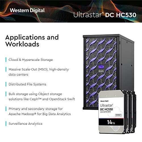 Western Digital Ultrastar DC HC530 HDD 14TB 7.2k RPM SATA 6Gb/s 512MB Cache 3.5-Inch Enterprise Data Center Hard Drive | WUH721414ALE6L4 | Bundle with COMPATILY Aluminum Screw Driver Kit by Western Digital (Image #5)