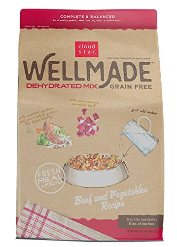 Cloud Star Wellmade Raw Dehydrated Dog Food Beef & Vegetable 3Lb by Cloud Star
