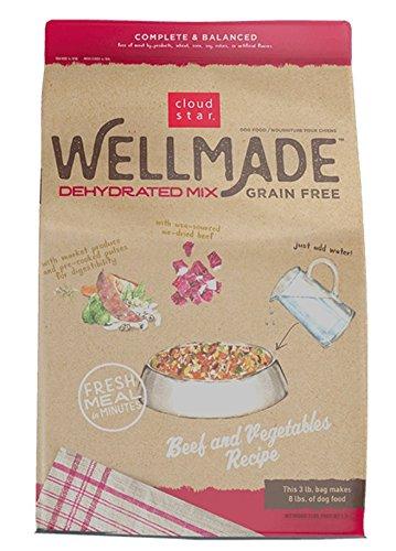 Cloud Star Wellmade Raw Dehydrated Dog Food Beef & Vegetable 3lb