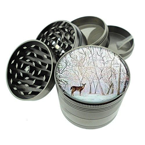 Deer Optical Illusion Hidden Titanium 4 PC Magnetic - Deer Grinder