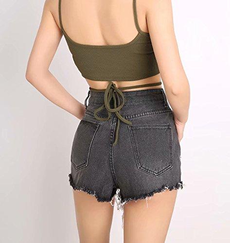 Pantaloncini da vintage Oudan retr donna zHwBnx0