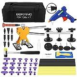 BBKANG 57pcs Paintless Dent Repair Kits, PDR Kits Body Dent Removal Tools Dent Puller Kit for Hail Damage Remover with Portable Bag