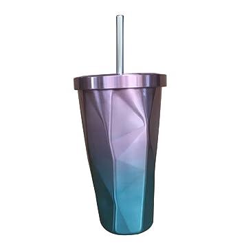 BESTONZON Vasos de vaso de acero inoxidable - Taza de viaje ...