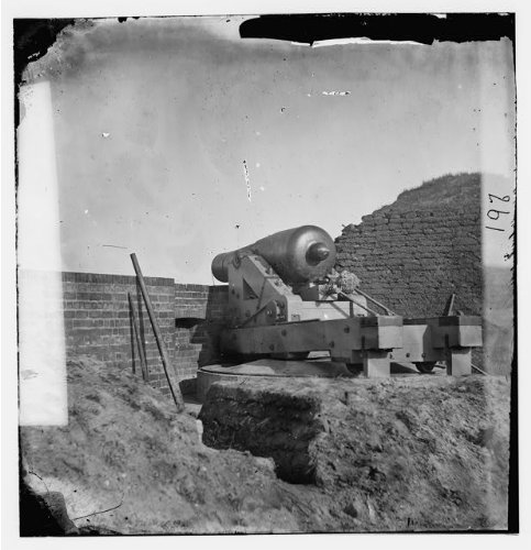 Timothy Osullivan Civil War - Photo: Beauregard gun, artillery, Fort Pulaski, Georgia, Timothy O'Sullivan, Civil War, 1862 . Size:
