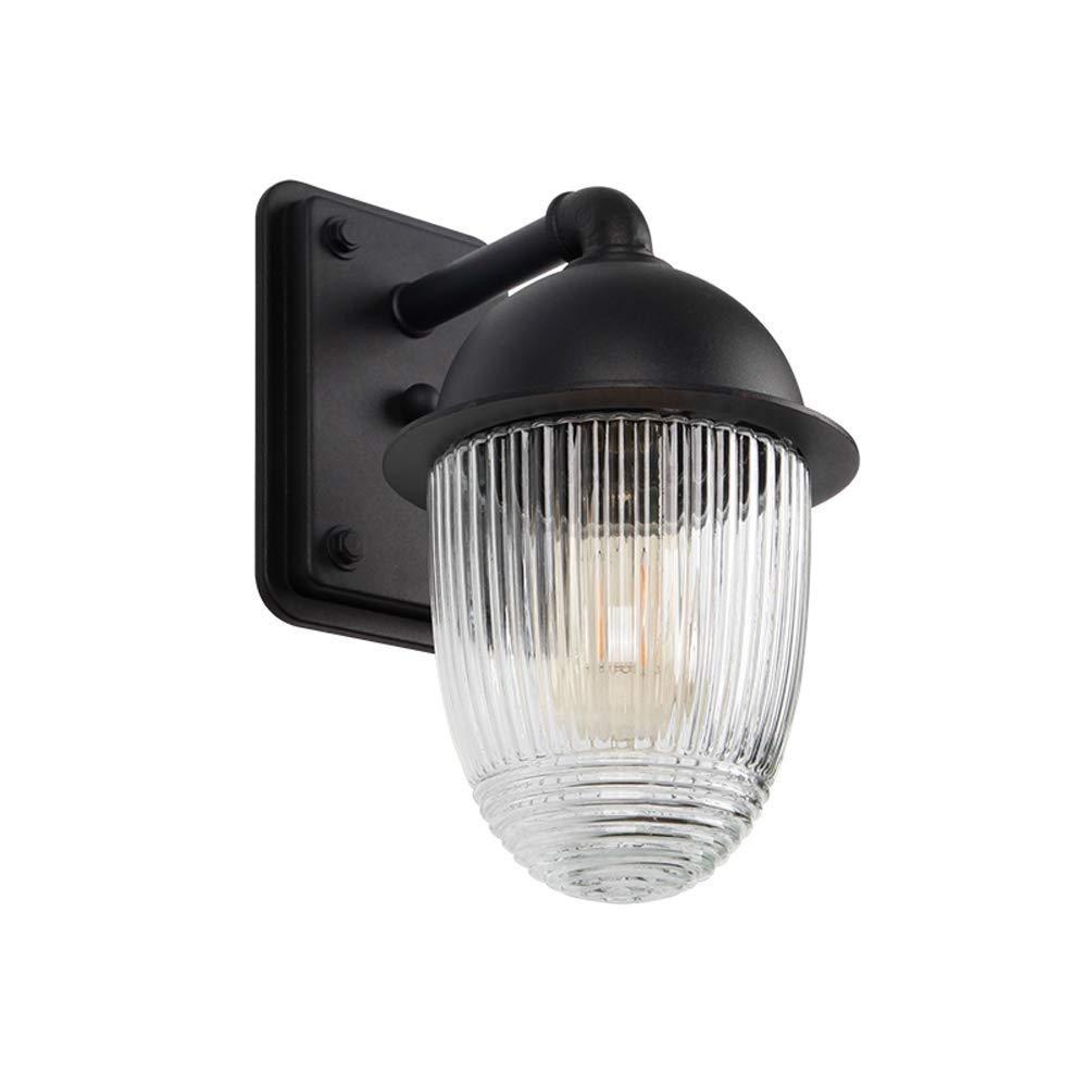 IRVING Lanterna a Parete per Esterni, Applique a 1 Luce per Esterni, Finitura Nera con Vetro Trasparente (Dimensioni   M)