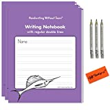 Handwriting Without Tears Writing- Draw and Write English Notebook With Regular Double Lines- Children Award Winning Learning Activities For Students+Bonus Pencil For Little Hands+Gift Boutique Eraser