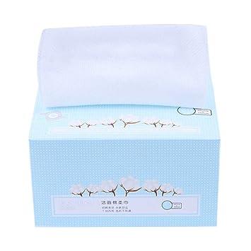 Lurrose 80 piezas de maquillaje desechable portátil, toalla de algodón seca y húmeda, toalla de limpieza: Amazon.es: Belleza