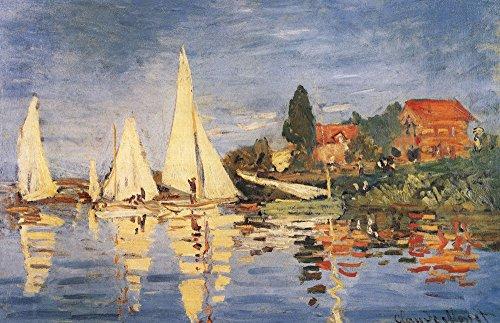 (Regatta at Argenteuil by Claude Monet Art Print, 47 x 30 inches )