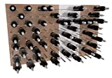 STACT Wall Mounted Wine Rack 3x4 Combo Kit 11: Oak & Pure White