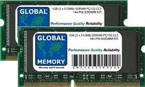 1GB (2 x 512MB) PC133 133MHz 144-PIN SDRAM SODIMM MEMORIA RAM KIT PARA POWERBOOK G3 & TITANIUM POWERBOOK G4