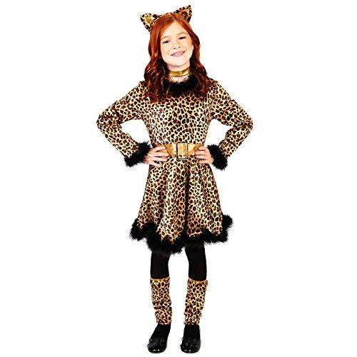 Leopard Dress Child Dress Up Costume M (8-10) -