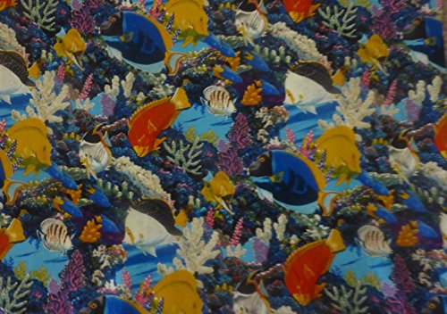 Save Our Reefs By Four Seasons~ Fish in the Sea~cotton Fabric for Quilting (Four Seasons Quilt Shop)