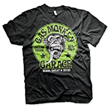 Officially Licensed Merchandise Gas Monkey Garage - Green Logo T-Shirt (Black)