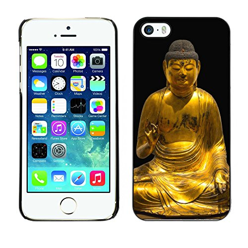 Premio Sottile Slim Cassa Custodia Case Cover Shell // F00018407 golden Buddha // Apple iPhone 5 5S 5G