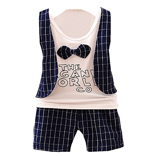 ftsucq-little-boys-bow-tie-tank-top-with-checkered-middle-pants-two-pieces-sets90