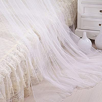 Widelin Mosquito Bed Net Large Queen Size,White,Round Perfect For Girls, Toddlers, Adults Or Over Baby Crib