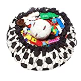 Toy Storage Bag for Baby and Kids Large Play Mat Toys Quickly Organizer (Soccer) 140CM by Elfjoy