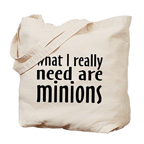 CafePress - Bolso grande de tela, diseño «I Need Minions», bolso de compras de lona, color beige