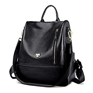 FOXER Womwen Genuine Leather Fashion Daypack Ladies Casual Backpack