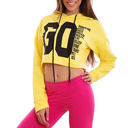 Toocool - Sudadera con capucha - para mujer amarillo