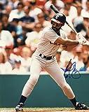Autographed Baines Picture - At Bat 8x10 W coa - Autographed MLB Photos