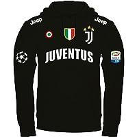 Print & Design Felpa con Cappuccio Juventus Personalizzata Nera