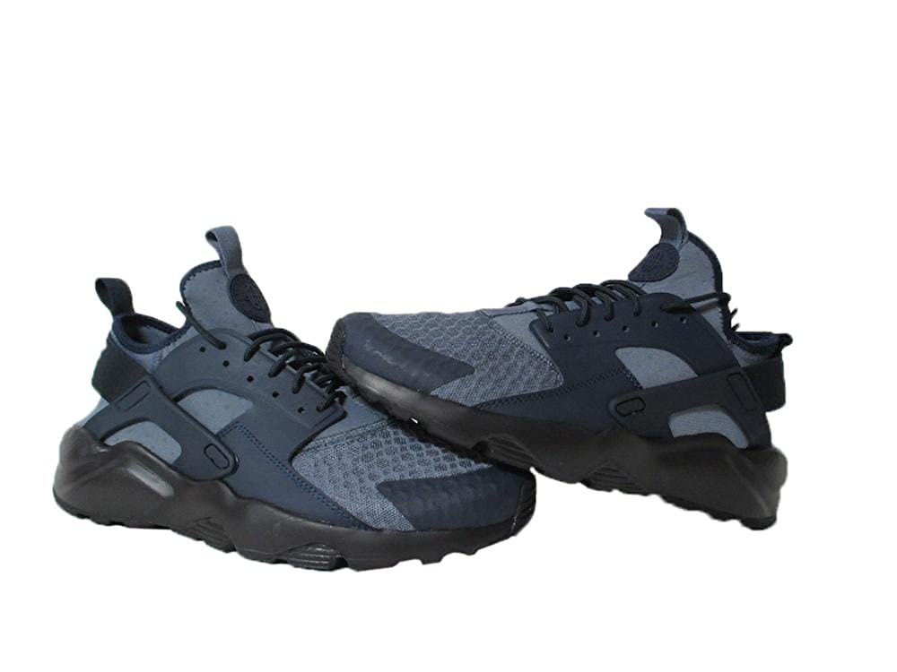 nike huaraches blue and black