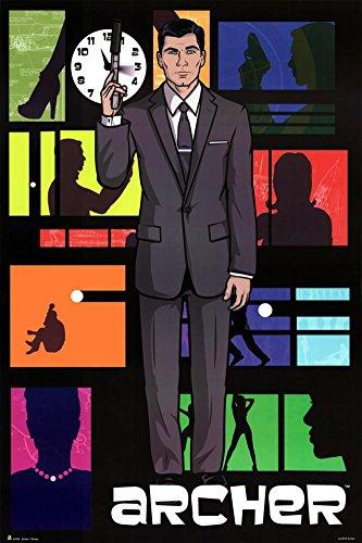 Archer Pop Art TV Poster with Hanger