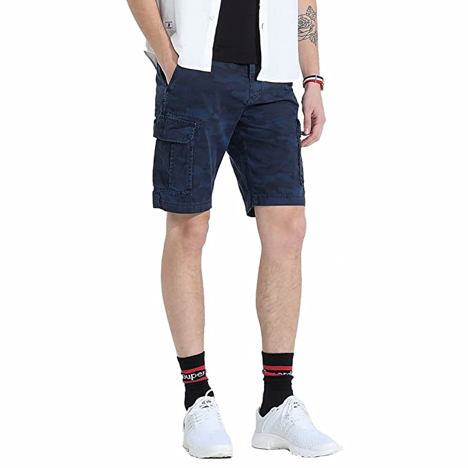 e669de6c62 TieNew Hombres Casual Camuflaje Pantalones Cortos