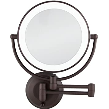 Amazon zadro 10x1x magnification cordless led lighted dual zadro 10x1x magnification cordless led lighted dual sided wall mirror 7 1 aloadofball Image collections