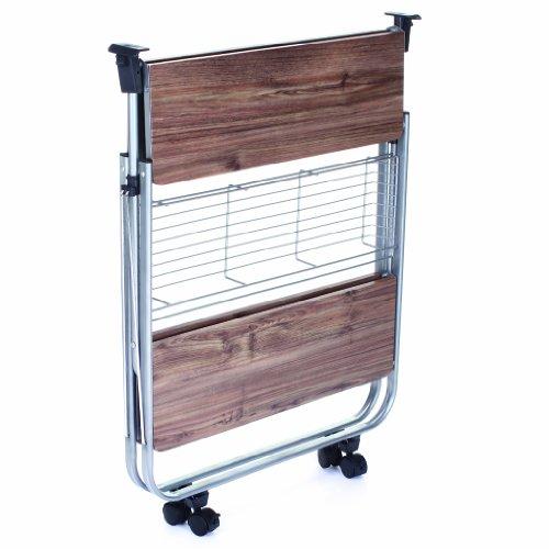 Mobile Carrello Carrello da cucina pieghevole su rotelle: Amazon.it ...
