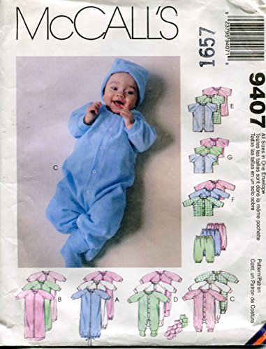 McCall's Pattern 9407 Baby Bunting Unisex Sewing layette for stretch knits only.